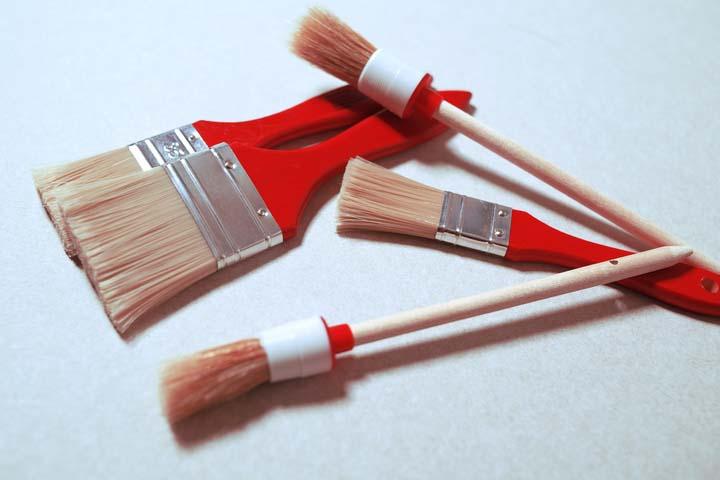 انتخاب انواع قلم مو برای نقاشی ساختمان