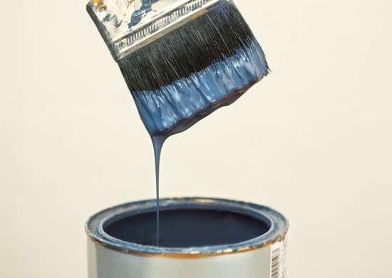 پر کردن قلم مو از رنگ