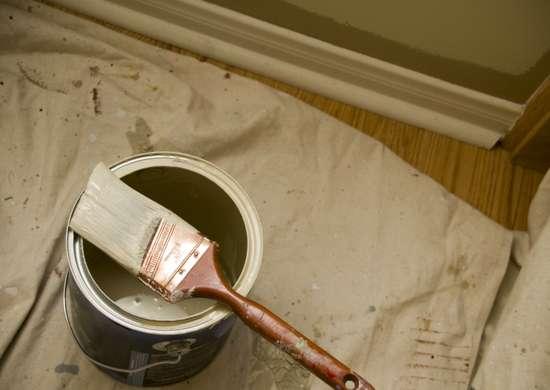محافظت از محیط اتاق پیش از رنگ آمیزی دیوار